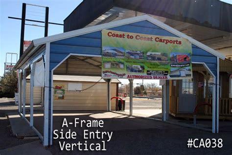 Coast To Coast Car Ports by A Frame Carports For Sale Custom Vertical