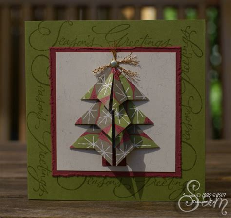 ryemilan s ramblings origami christmas tree in holiday thyme