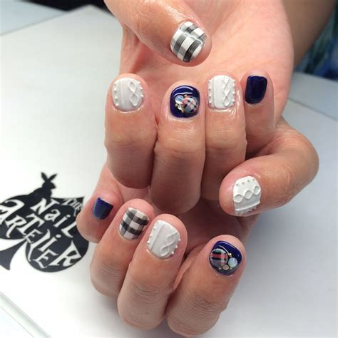 knit pattern nails gel art fad knitted nails the nail artelier