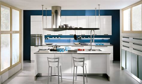 white kitchen cabinets blue walls kitchens with white cabinets and blue walls images