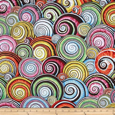 home decor designer fabric kaffe fassett spiral shells multi discount designer