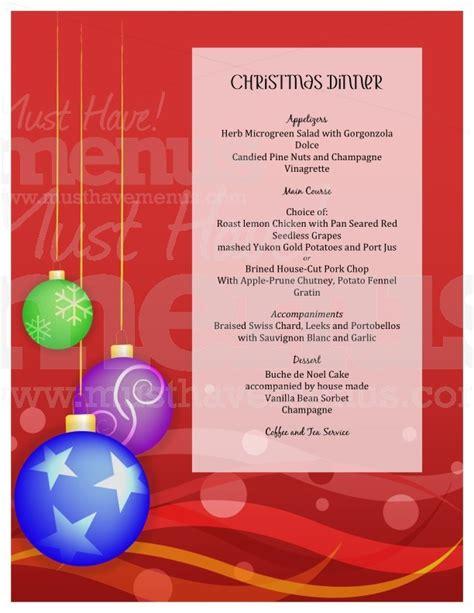 christmas dinner menu template page 1