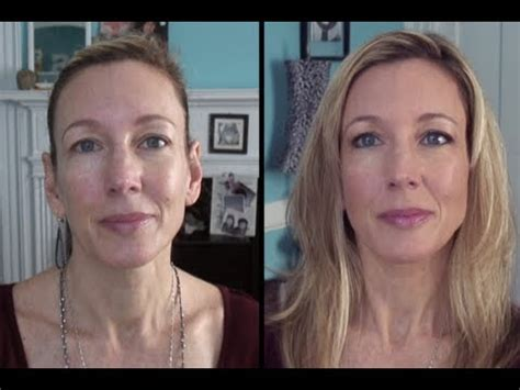 how to look younger over 50 look younger foundation tutorial for mature skin youtube