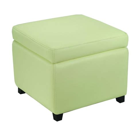 White Storage Ottoman Safavieh Sergio White Storage Ottoman Hud4007d The Home Depot