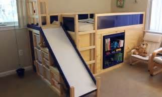 Bunk Bed With Slide And Desk 25 Diy Bunk Beds With Plans Guide Patterns