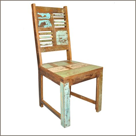 distressed dining room chairs sierra rustic distressed reclaimed wood multi color