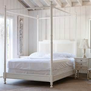 Antique White Canopy Bed Ashwell Shabby Chic Couture From