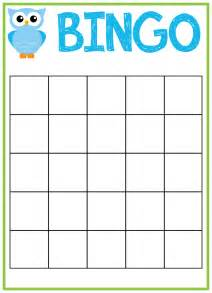 Bingo Card Template Free by Owl Baby Shower Bingo Cards