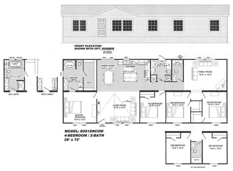 Houses For Sale With Floor Plans by 4 Bedroom Floor Plan B 5016 Hawks Homes Manufactured