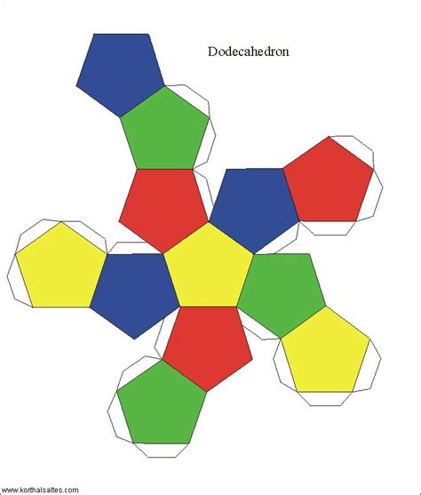 dodecahedron template dodecahedron craft s