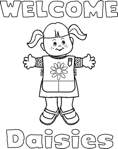 Scout Coloring Pages For Daisies Printable Daisy Girl Scout Coloring Pages Az Coloring Pages