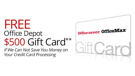 office depot merchant credit card processing