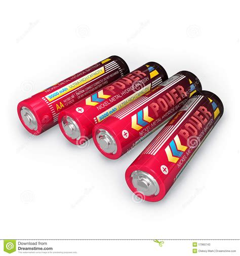 four aa batteries four aa batteries stock photos image 17960743