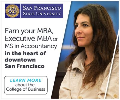 Sf State Mba Options by Faster Mba Sf State Has Revised Its Programs To Meet Your
