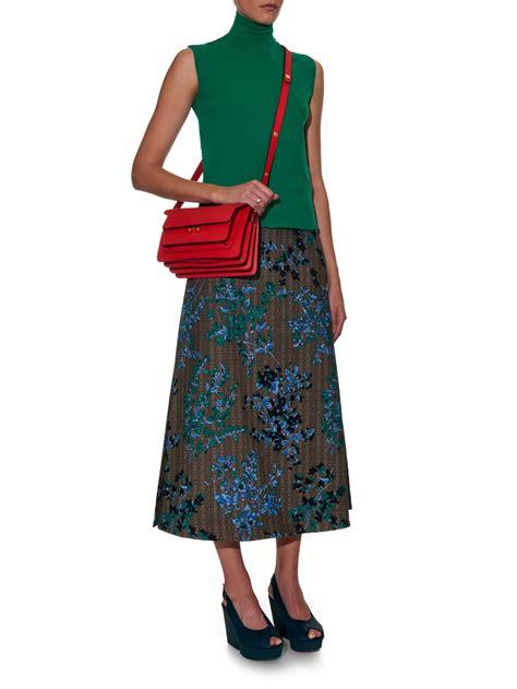 Channel Carlo Bag marni trunk medium leather shoulder bag in lyst
