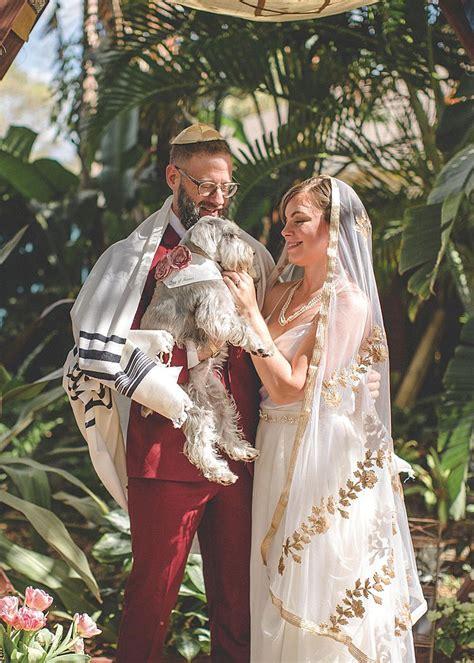 spiritual magical florida backyard jewish wedding