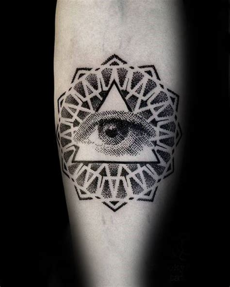 dotwork eye tattoo 60 eye of providence tattoo designs for men manly ink ideas