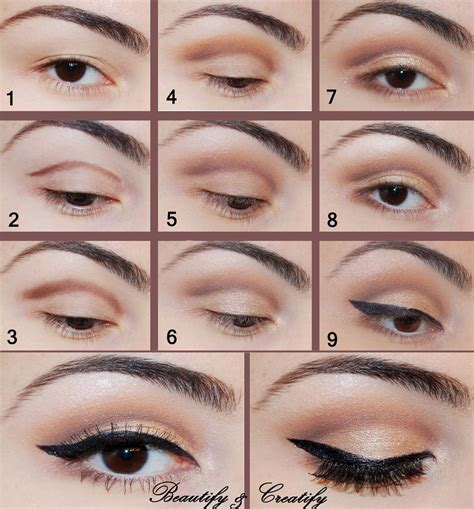 tutorial eyeliner simple beautify and creatify elegant neutral make up look tutorial
