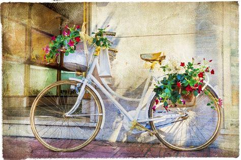 imagenes de zona retro bicicleta floral art 237 stico cuadro vintage foto de stock