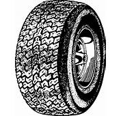 Tires Clipart Black And White  Pencil In Color
