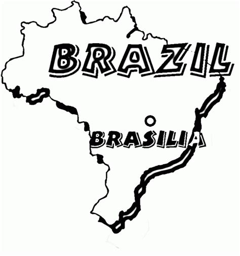 coloring page map of brazil brazil coloring pages coloringpagesabc com