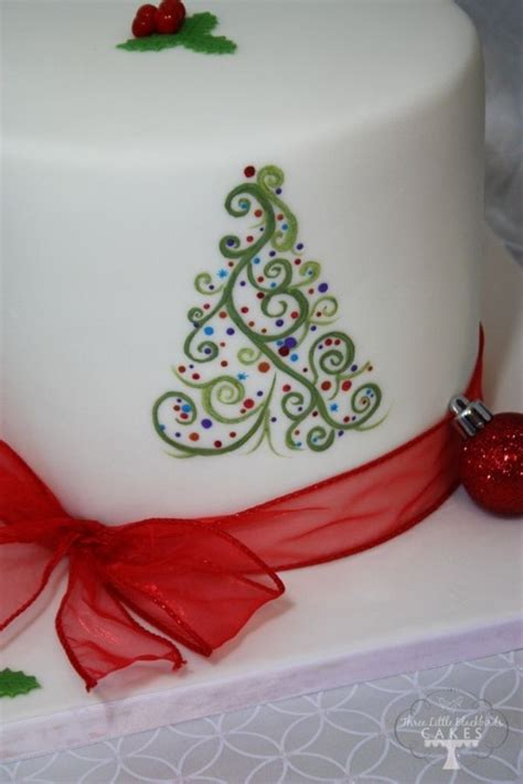easy classy christmas tree from fondant best 25 fondant cake ideas on cake topper cake