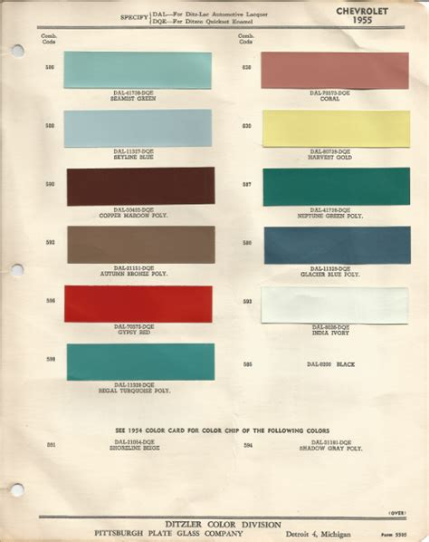 1955 chevrolet bel air india ivory code 593 car paint color kit