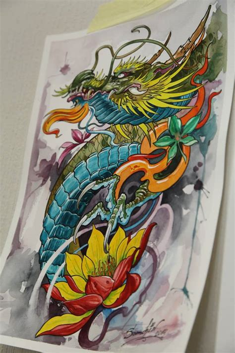 tattoo lotus dragon flower tattoos askideas com