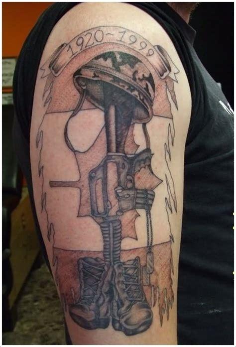 army tattoo sleeve designs 37 memorial boots rifle helmet tattoos