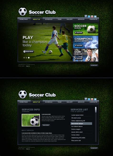 soccer html template soccer club html5 template