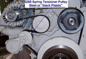 identifying the belt tensioner on your qsb 5 9 seaboard