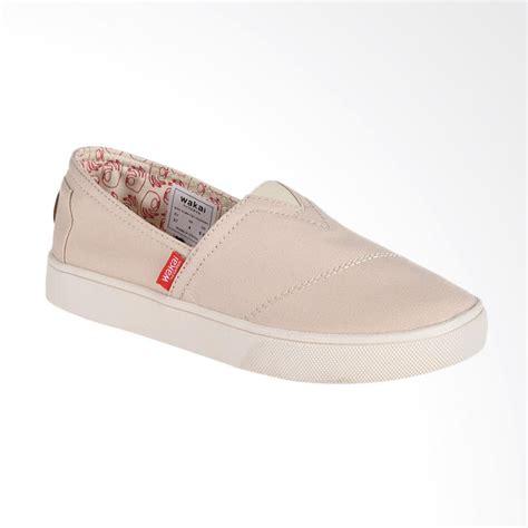 Sepatu Wanita Kanvas Cremme jual wakai wak slw01701 hashigo sepatu wanita