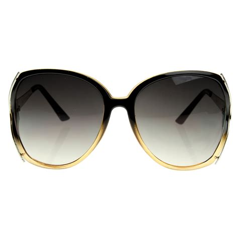 Chic Sunglasses by Designer Inspired Large Square Womens Fashion Oversized