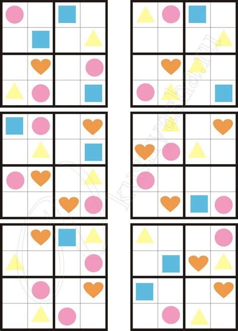 printable junior sudoku 17 best images about sudoku per bambini on pinterest