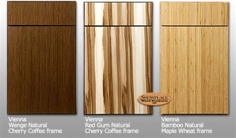exotic wood kitchen cabinets showplace cabinets vienna style exotic species