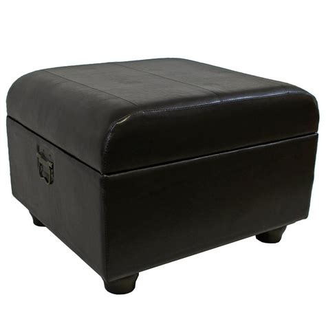 faux leather ottoman faux leather ottoman trunk with lid in ottomans