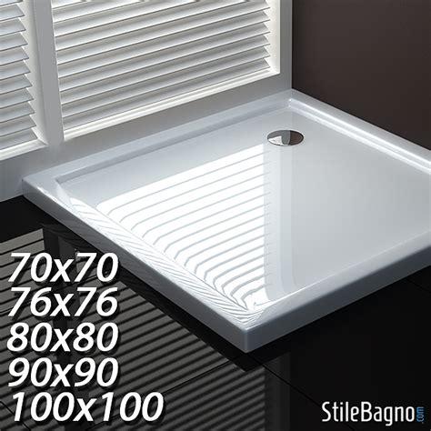 piatti doccia semicircolari 70x70 piatto doccia quadrato ultraflat in acrilico sanitario