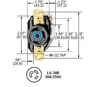 hubbell hbl2620 l6 30r twist lock 174 ac receptacle
