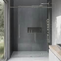 Shower Door Supplies Shop Vigo Luca 56 In To 60 In Frameless Sliding Shower Door At Lowes