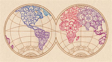 embroidery design world map mendhika map urban threads unique and awesome