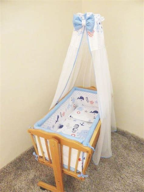 Canopy Crib Bedding Sets 7 Pce Crib Baby Bedding Set 90 X 40 Canopy Fits Rocking Swinging Cradle Print Ebay