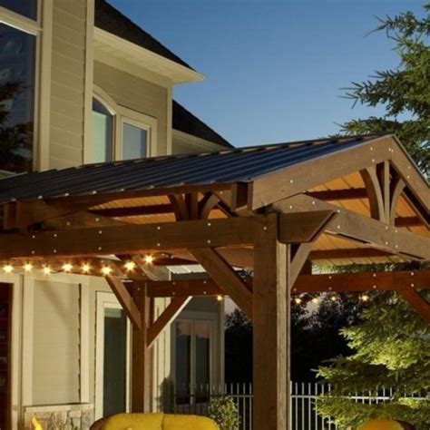 outdoor greatroom company metal roof for lodge ii pergola