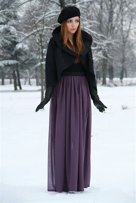 picture of stylish and comfy winter maxi skirt 23