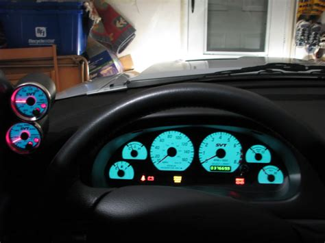 mustang custom gauges speedhut gauges svtperformance