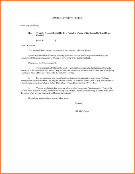 cover letter for transfer transfer of ownership letter template sles letter