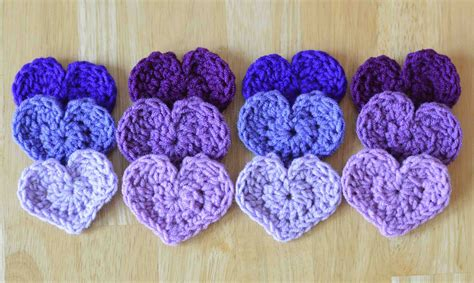 crochet pattern jpg the easiest heart crochet pattern ever
