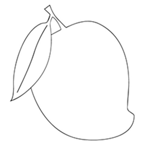 mango coloring pages preschool image gallery mango outline