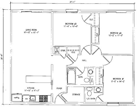 how many square feet is a 3 bedroom house house plans under 1000 square feet