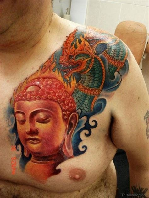 red buddha tattoo 41 religious buddha tattoos for chest