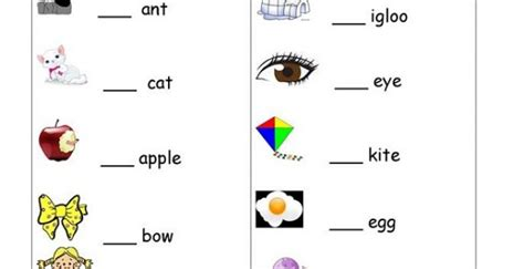a and an worksheets learning printable